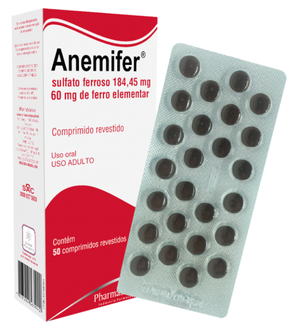 Suplemento de Ferro - Anemifer - PharmaScience Indústria Farmacêutica