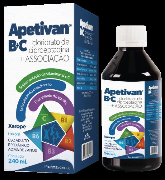 Medicamento estimulante de apetite Apetivan - PharmaScience