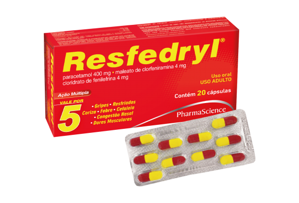 Medicamento para Gripes e Resfriados - Resfedryl 20 Comprimidos